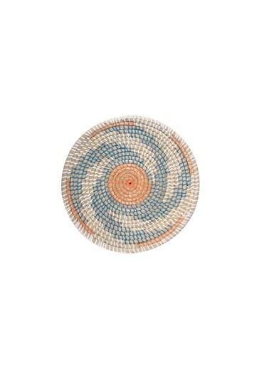 Sever Turuncu Mavi Hasır Duvar Dekor 40Cm Renkli